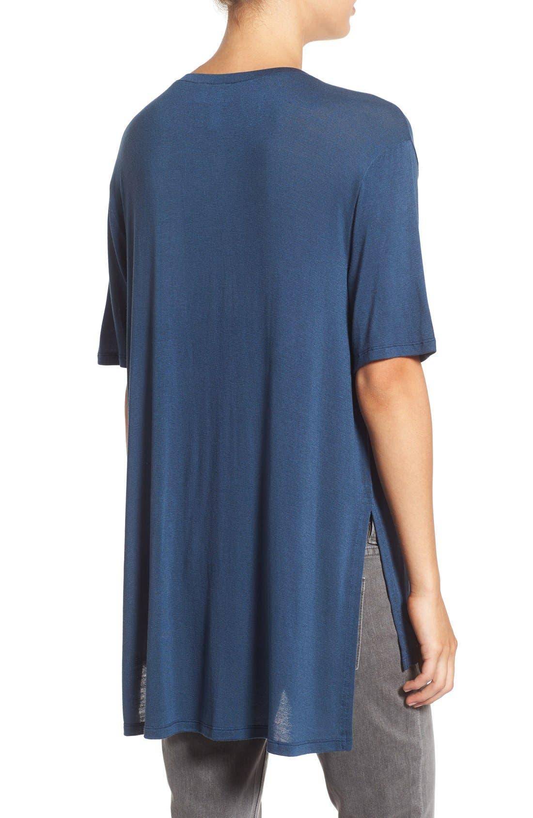 Alternate Image 2  - BP. Short Sleeve High/Low Lightweight Tee