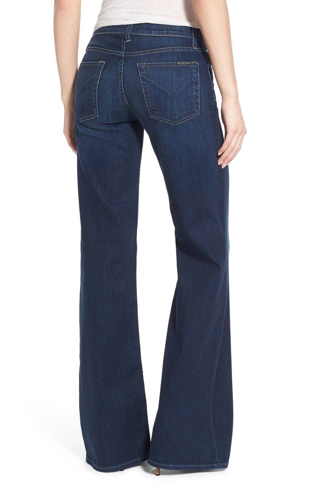 Alternate Image 2  - Hudson Jeans Piper Wide Leg Jeans (Thruway)