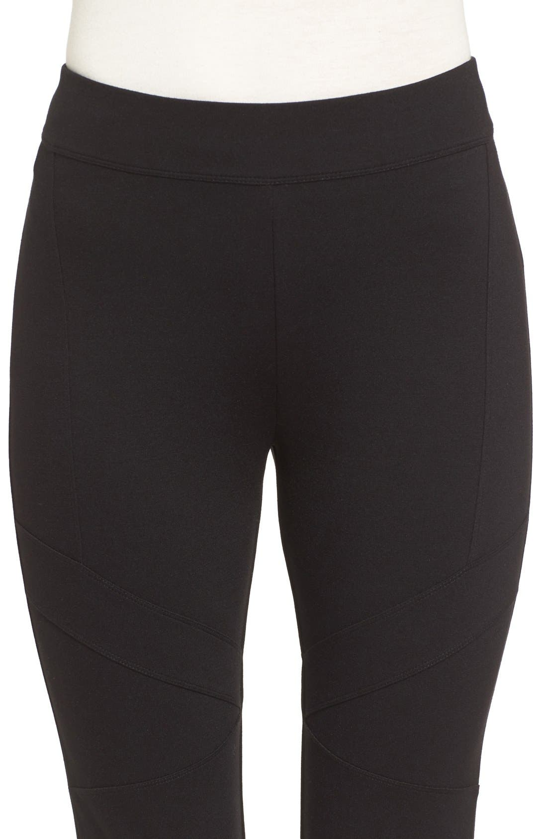 Alternate Image 4  - Two by Vince Camuto Ponte Knit Moto Leggings