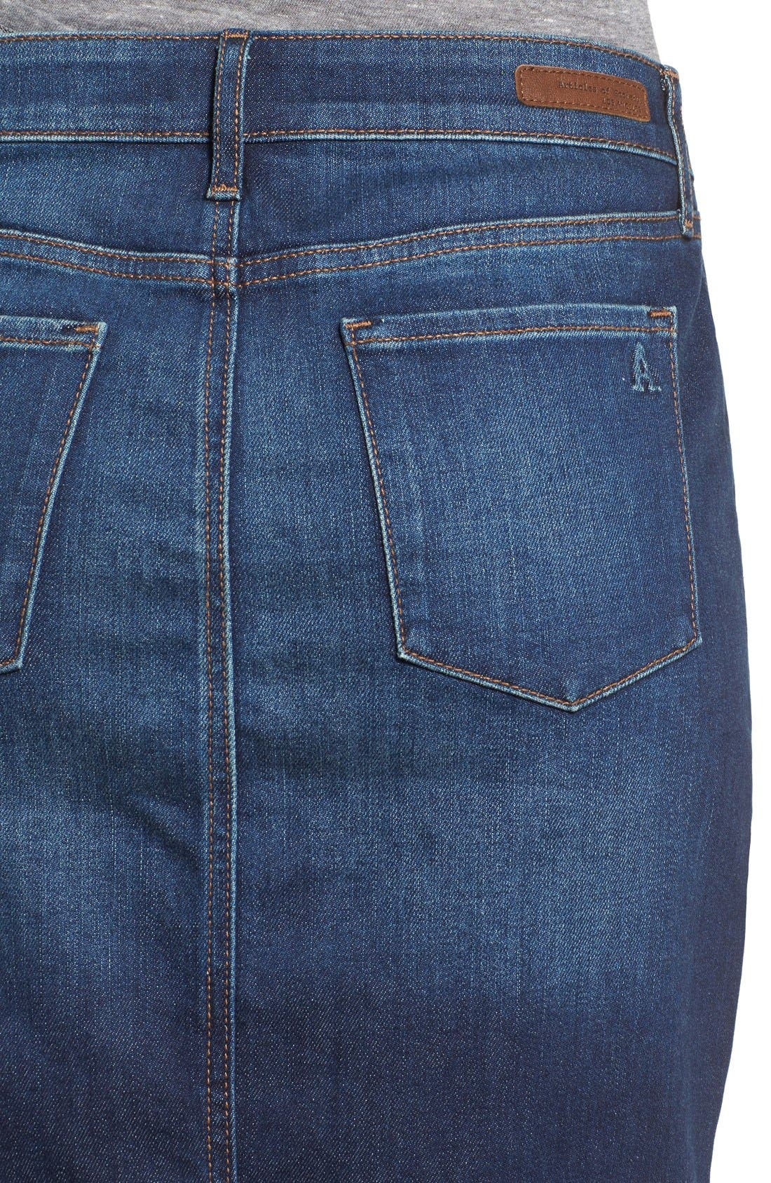 Alternate Image 4  - Articles of Society 'Penny' Denim Pencil Skirt (Del Ray)