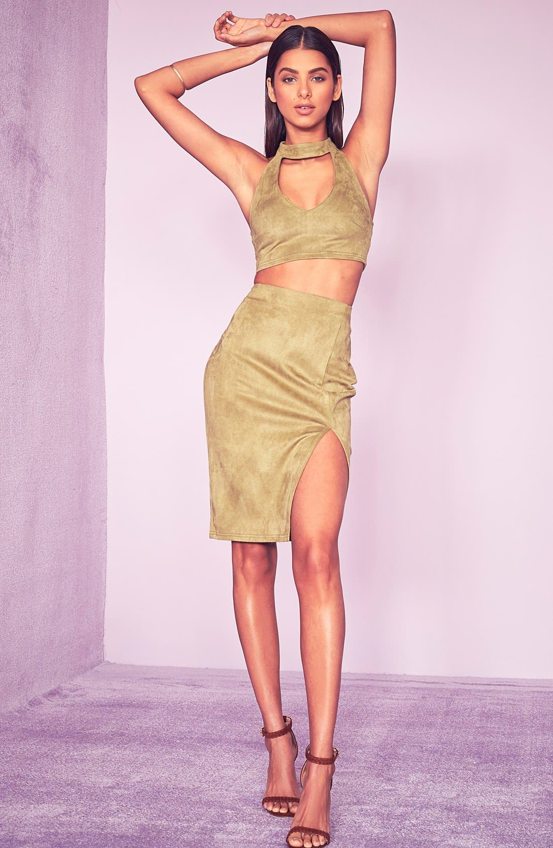 Alternate Image 2  - Missguided Faux Suede Skirt