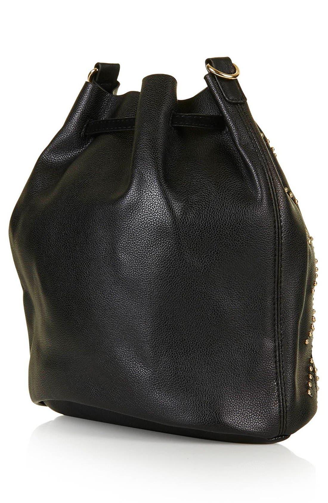 Alternate Image 3  - Topshop Drawstring Faux Leather Bucket Bag