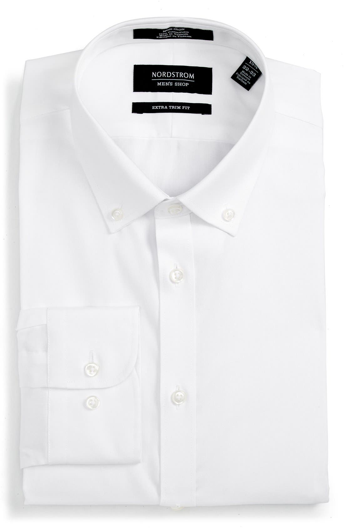 NORDSTROM MEN'S SHOP Extra Trim Fit Non-Iron Solid