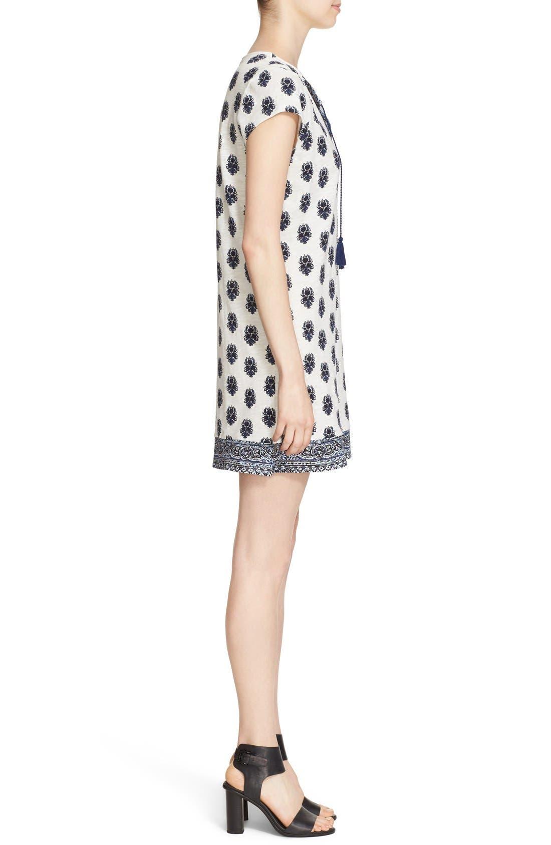 Alternate Image 3  - Soft Joie 'Gadhi' Border Print Split Neck Shift Dress