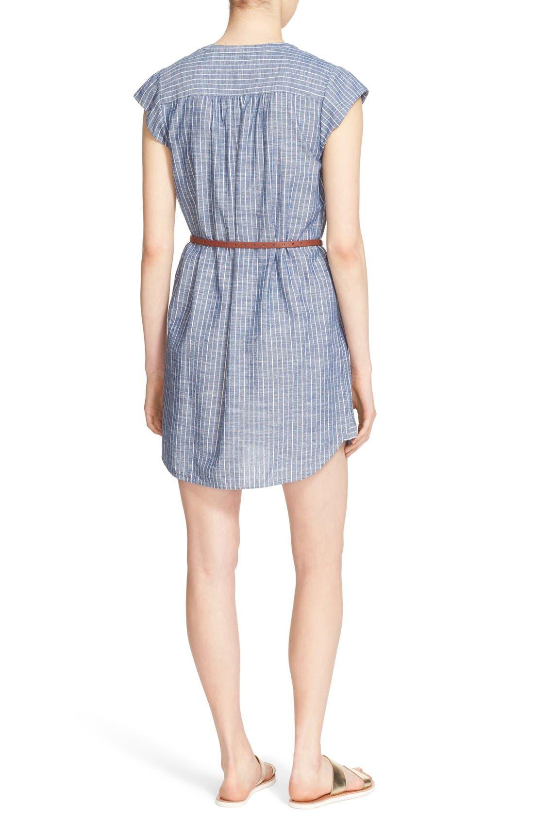 Alternate Image 2  - Joie 'Neha' Belted Cotton Split Neck Shirtdress