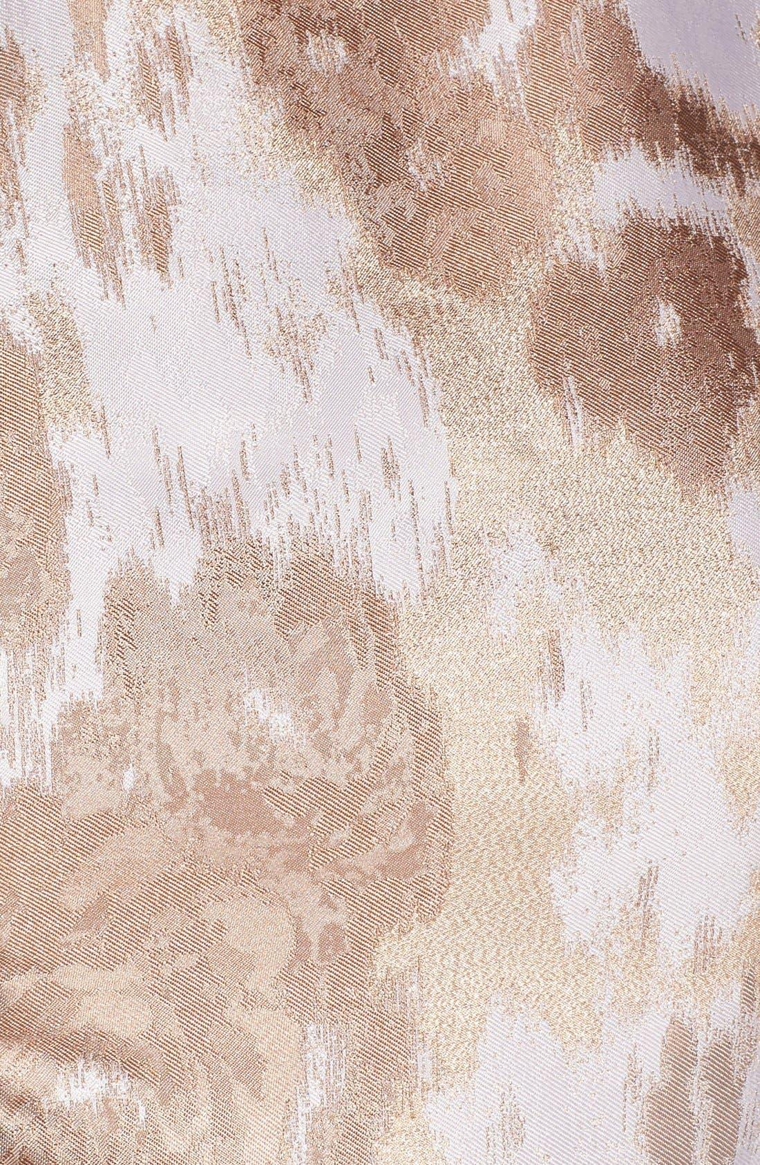 Alternate Image 6  - Eliza J Belted Jacquard Fit & Flare Dress