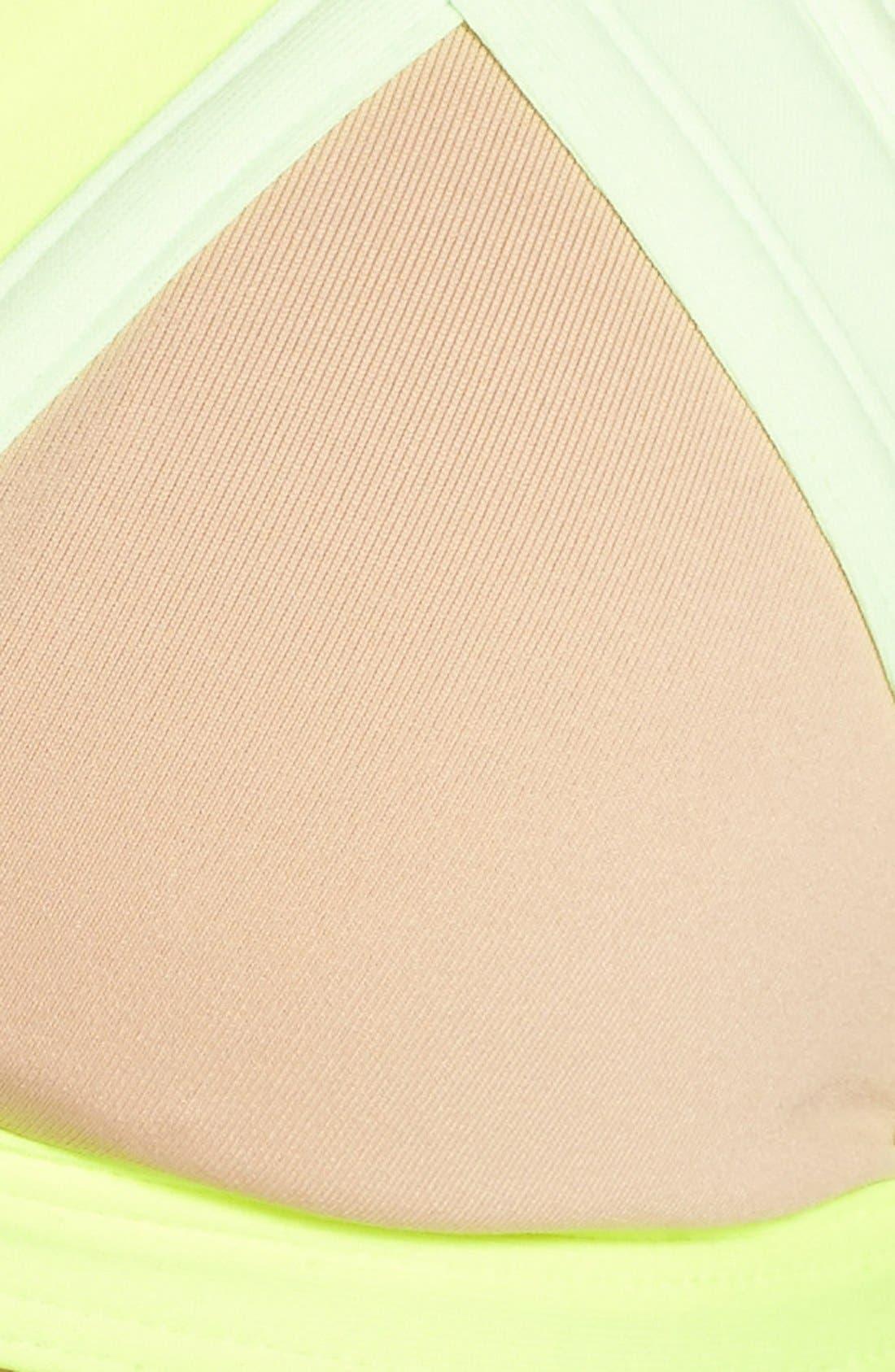 Alternate Image 8  - Maaji 'Lime Collage' Reversible Triangle Bikini Top
