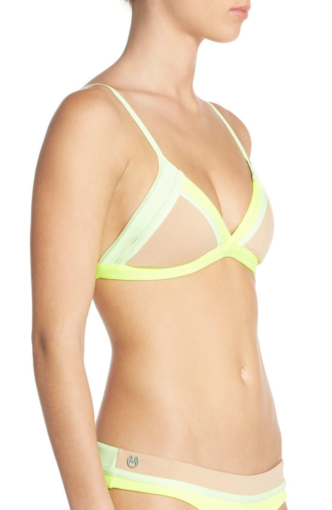 Alternate Image 3  - Maaji 'Lime Collage' Reversible Triangle Bikini Top