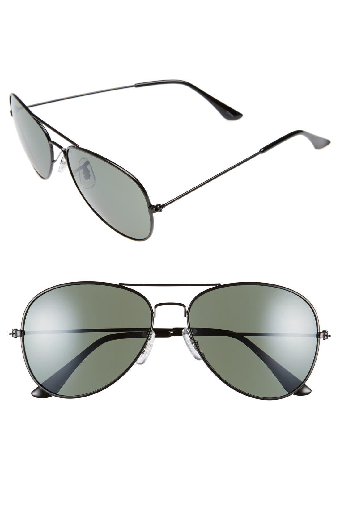 Main Image - BP. 45mm Matte Aviator Sunglasses