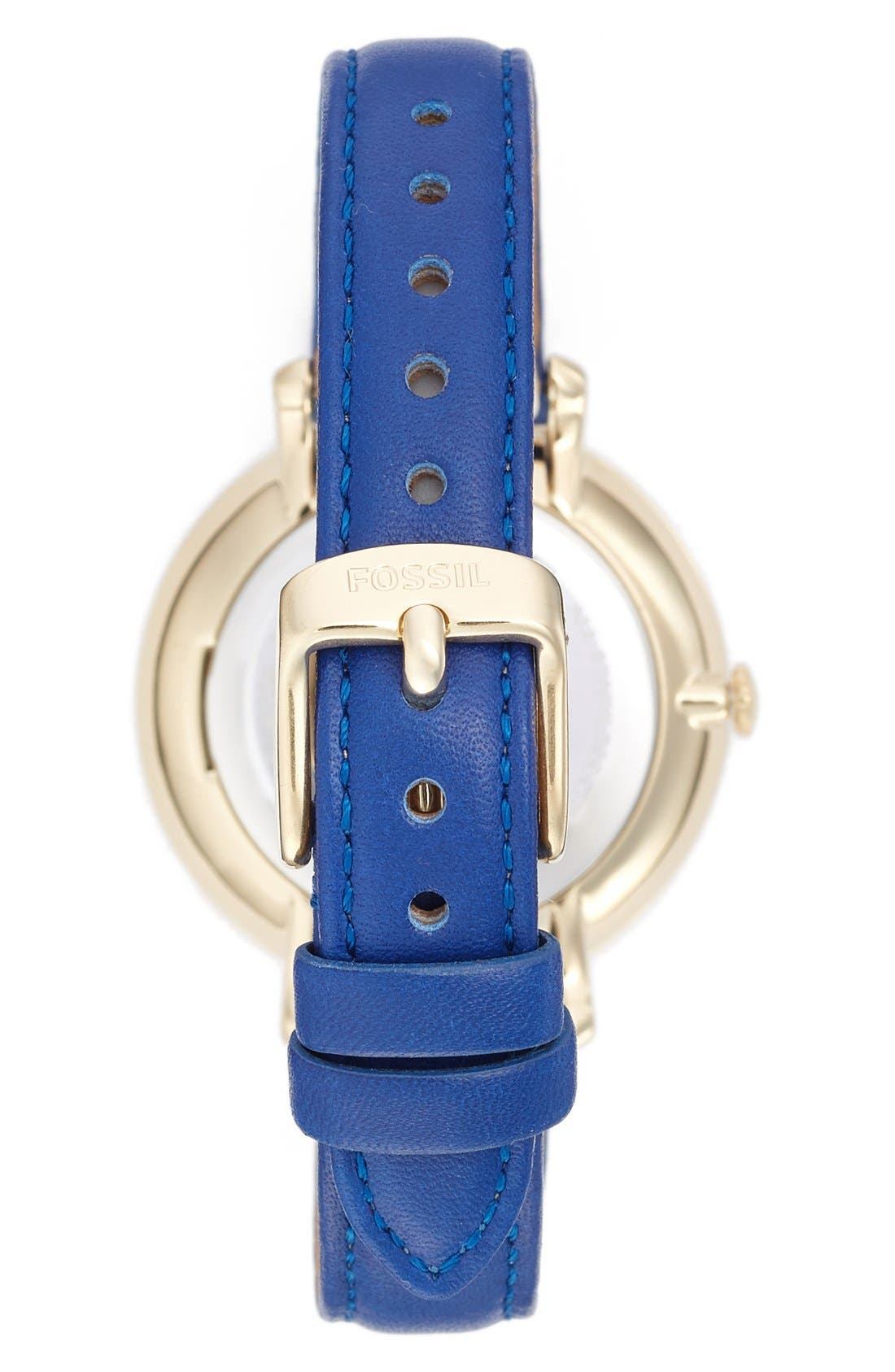 Alternate Image 2  - Fossil 'Jacqueline' Leather Strap Watch, 36mm