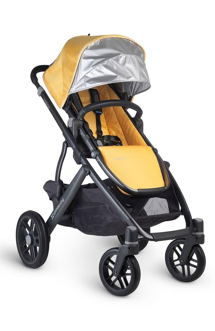 uppababy vista maya carbon finish aluminum frame convertible stroller with bassinet toddler. Black Bedroom Furniture Sets. Home Design Ideas