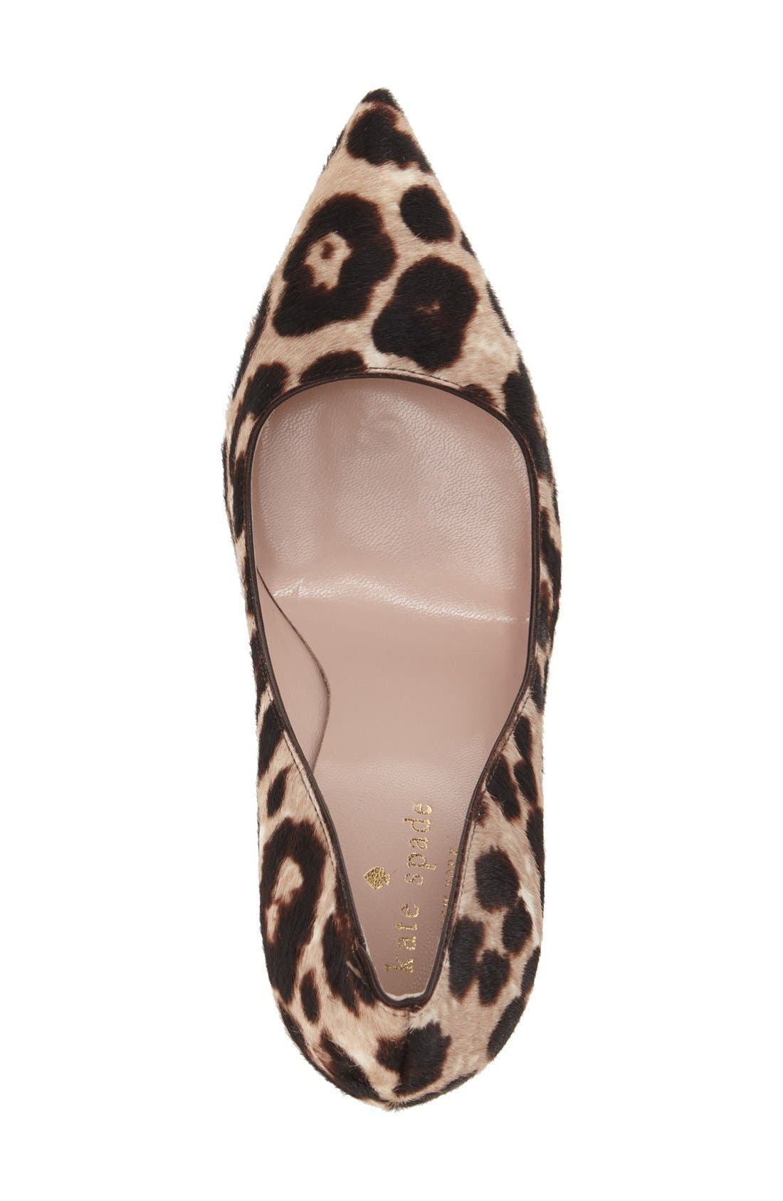 Alternate Image 3  - kate spade new york 'licorice too' genuine calf hair pump (Women)