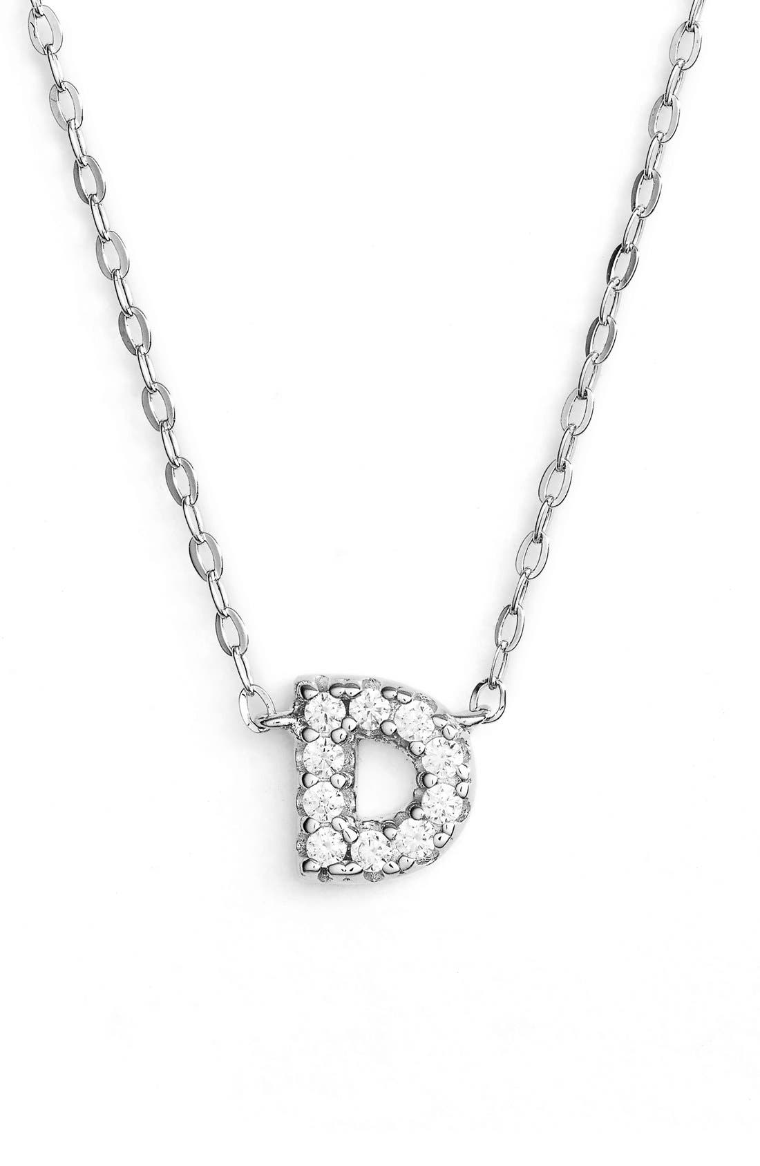 Alternate Image 1 Selected - Nadri Cubic Zirconia Initial Pendant Necklace
