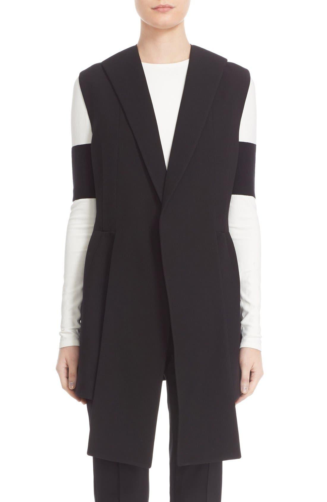 NARCISO RODRIGUEZ Long Wool Piqué Vest