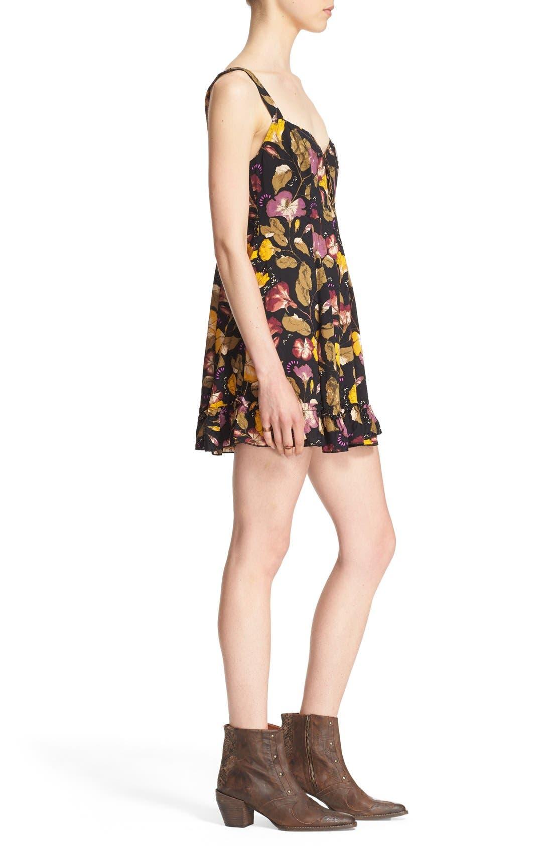 Alternate Image 3  - Free People 'Lattice Lovers' Lace-Up Minidress