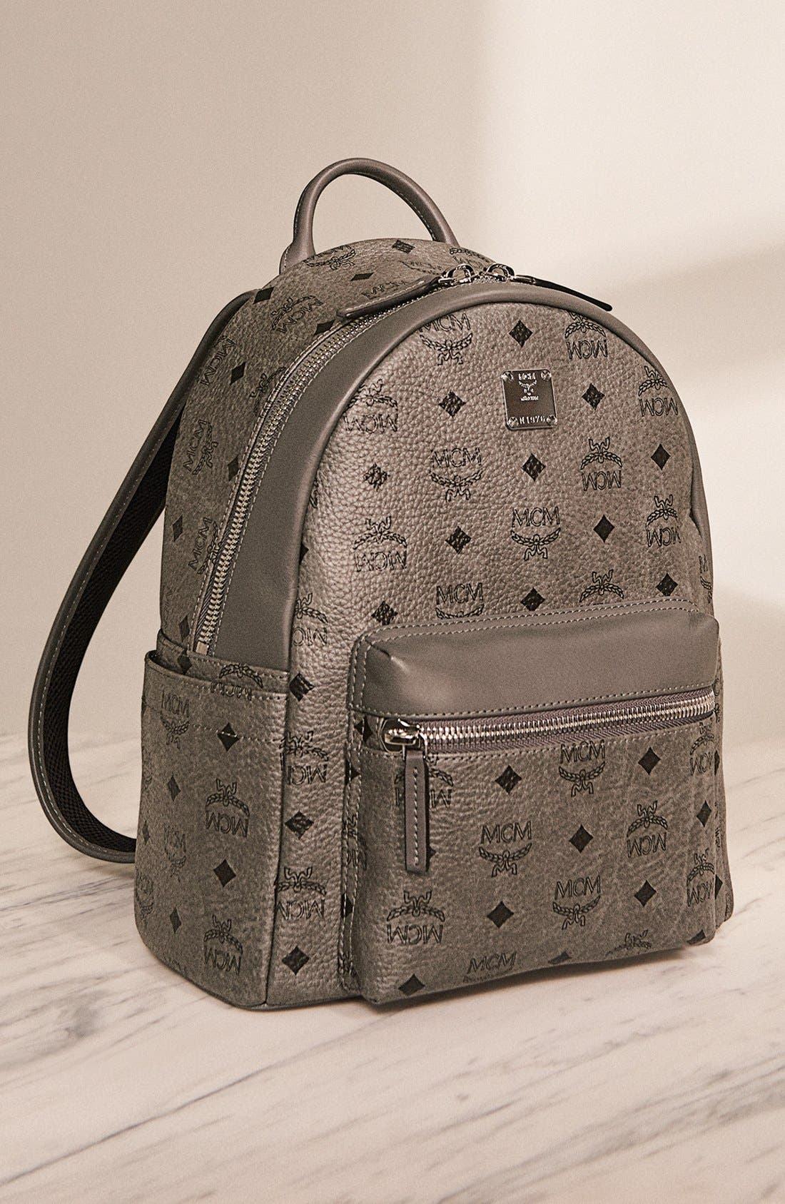 Alternate Image 7  - MCM Backpack 'Small Stark' Coated Canvas Backpack (Nordstrom Exclusive)