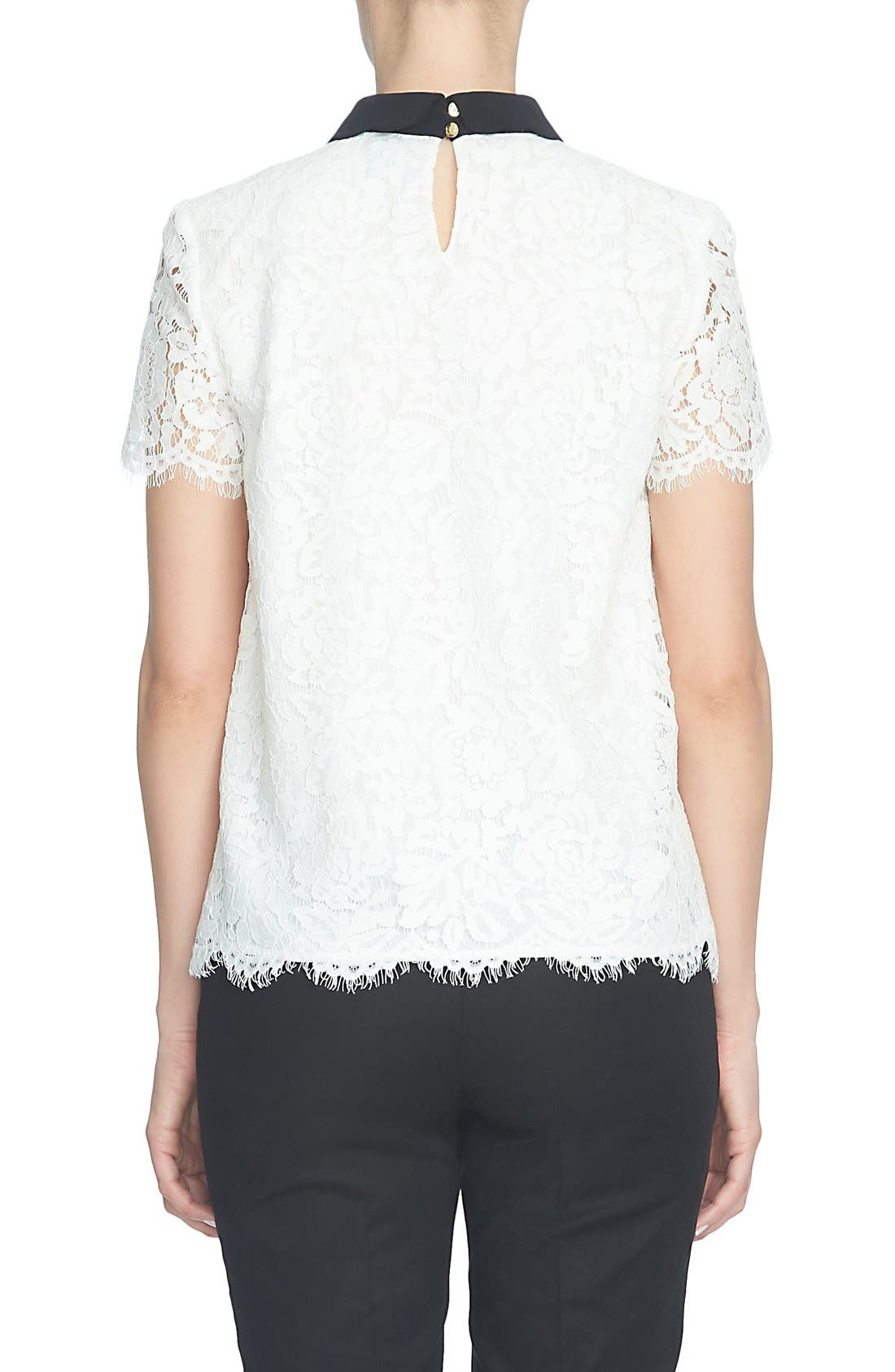Alternate Image 3  - CeCe Scallop Collar Lace Blouse