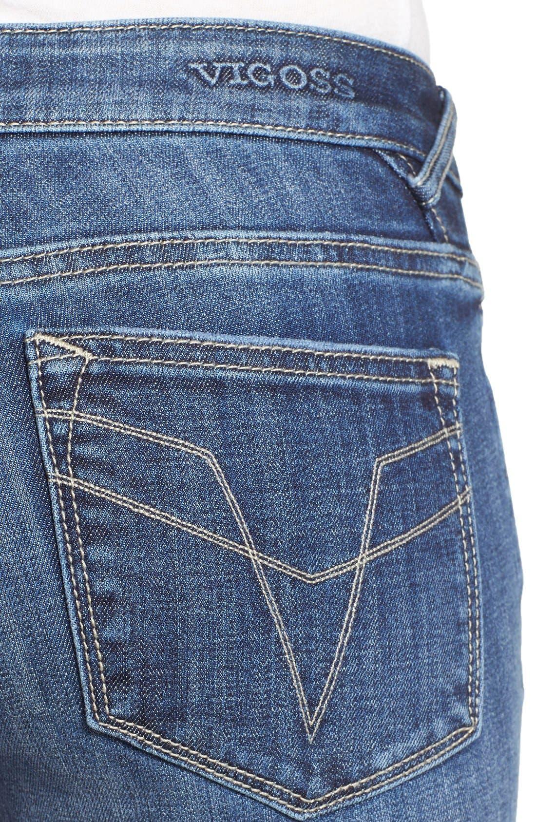 Alternate Image 5  - Vigoss 'Chelsea' Destroyed Skinny Jeans