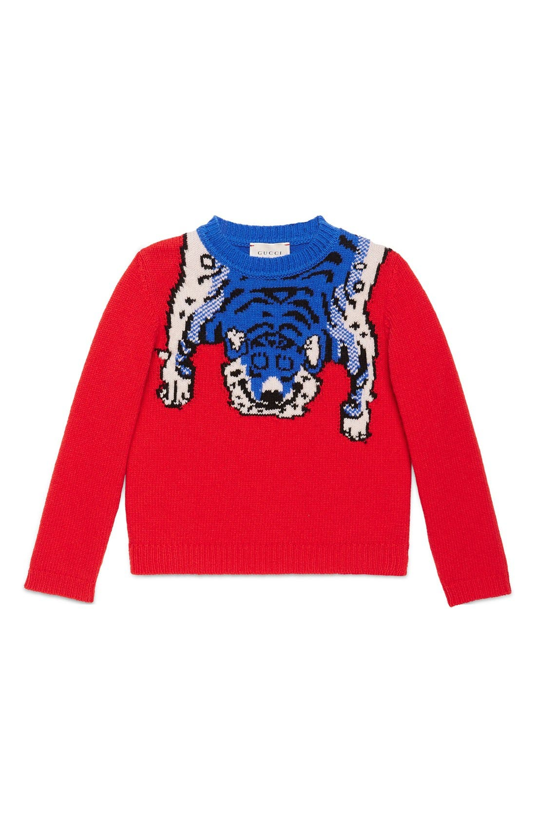 Gucci Intarsia Tiger Wool Sweater (Little Girls & Big Girls)