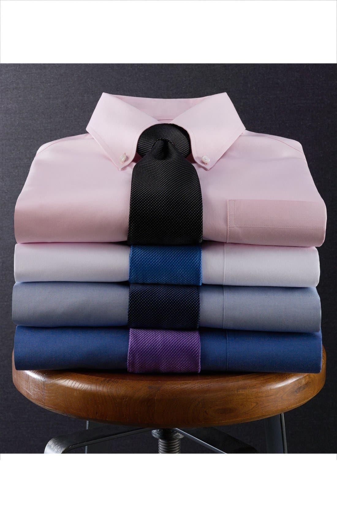 Alternate Image 5  - Nordstrom Men's Shop Smartcare™ Trim Fit Solid Dress Shirt