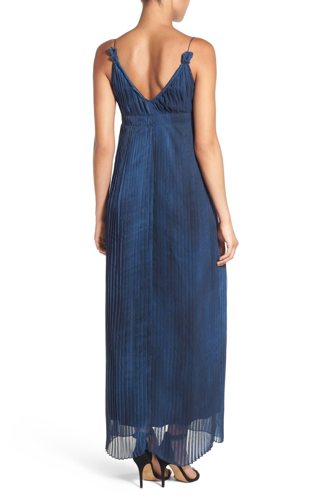 Alternate Image 2  - Elie Tahari 'Opal' Pleated Maxi Dress