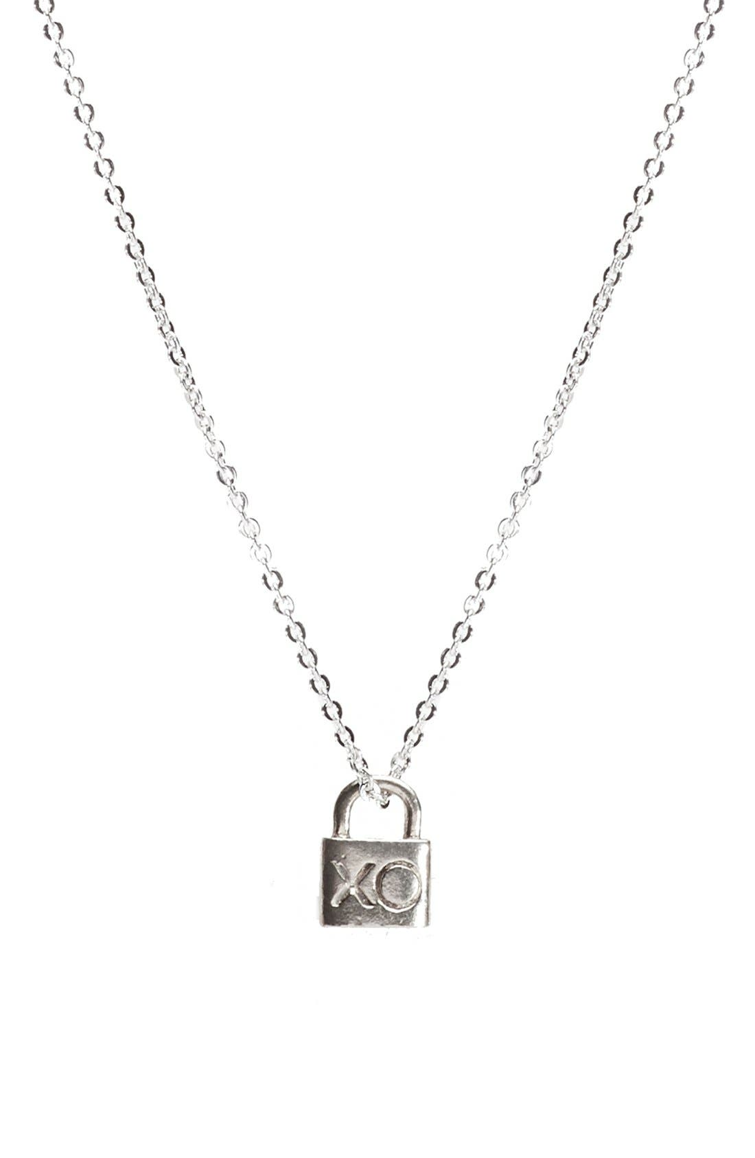 The Giving Keys Petite XO 16-inch Lock Pendant Necklace