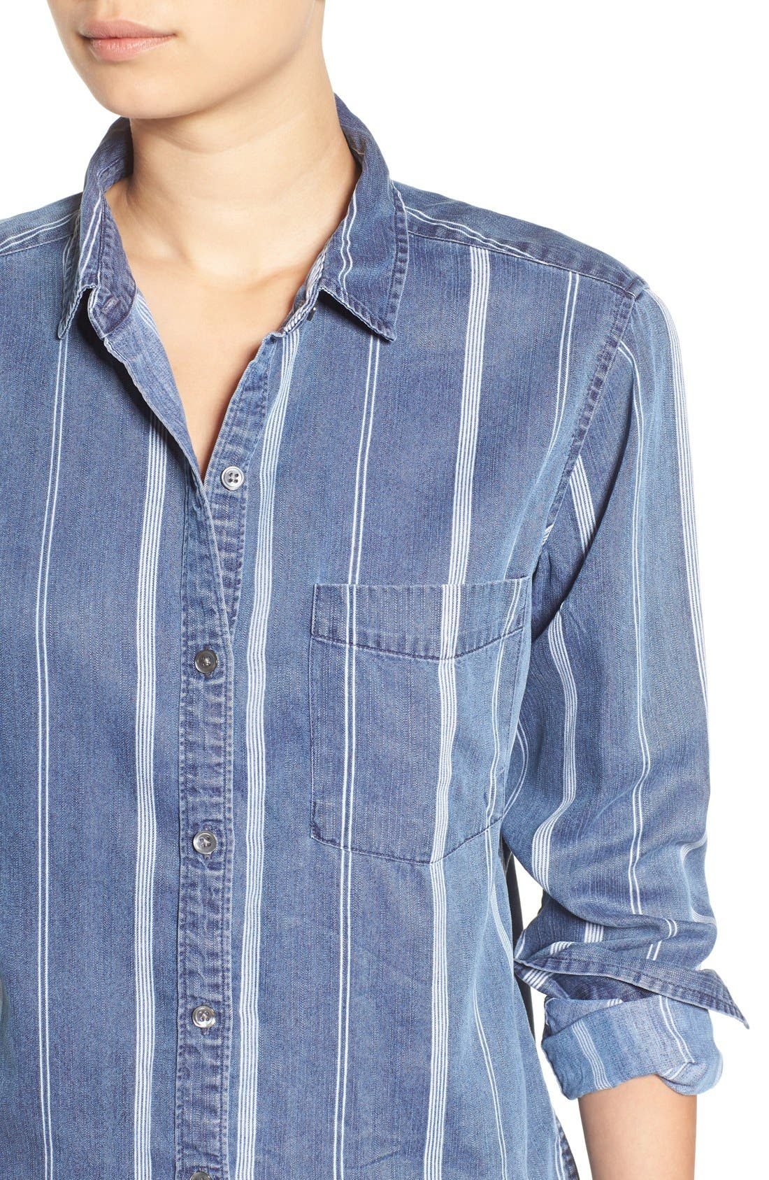 Alternate Image 4  - Rails 'Dana' Stripe Chambray Shirt