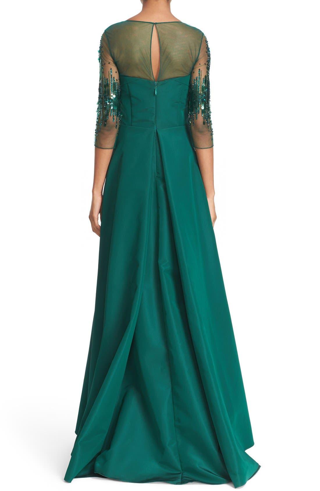 Alternate Image 2  - Pamella Roland Crystal Sequin Silk Faille Gown