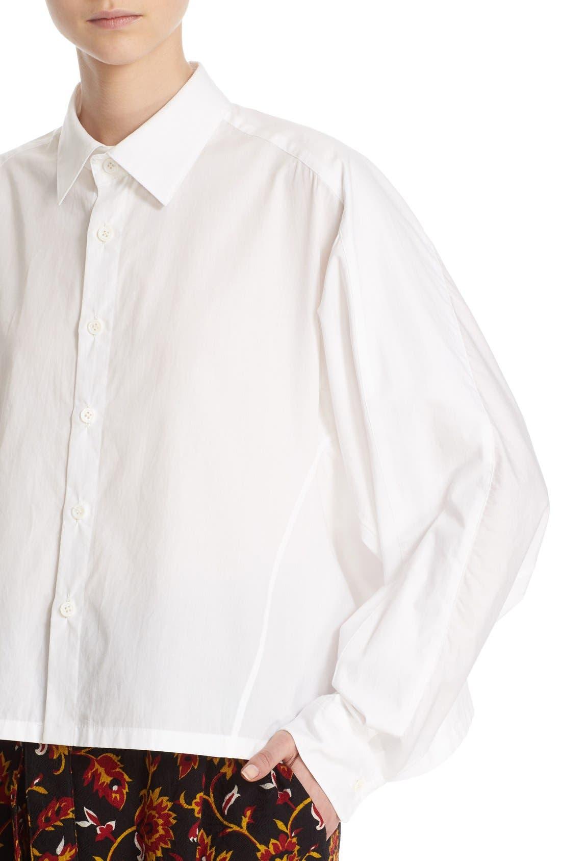 Alternate Image 6  - Y's by Yohji Yamamoto Dolman Sleeve Cotton Blouse