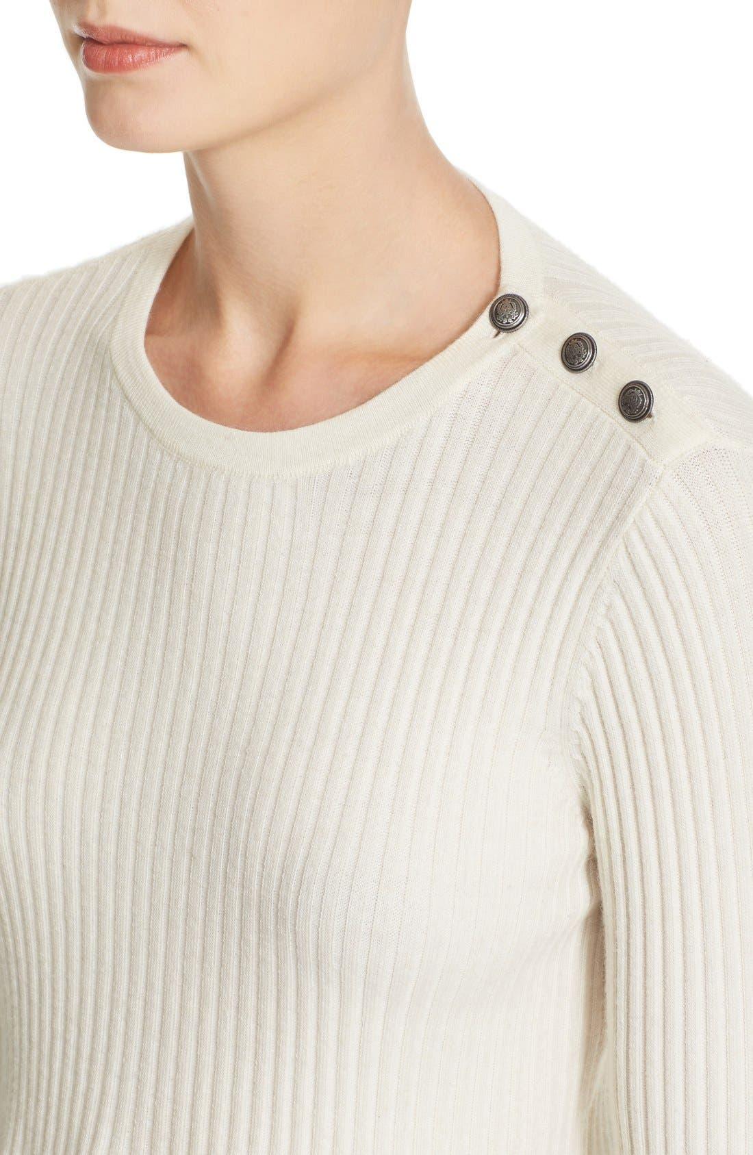 Alternate Image 4  - Rebecca Taylor Rib Knit Peplum Pullover
