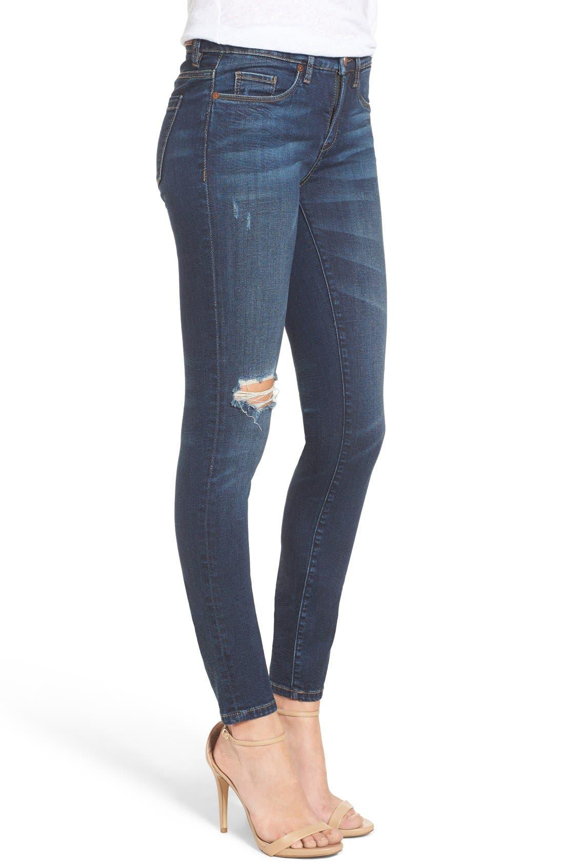 Alternate Image 4  - BLANKNYC Distressed Skinny Jeans (Junk Drawers)