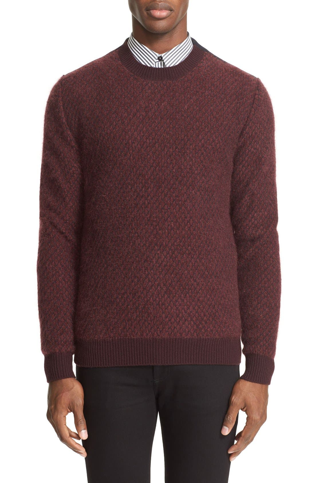 GIVENCHY Mohair Blend Fishnet Pullover