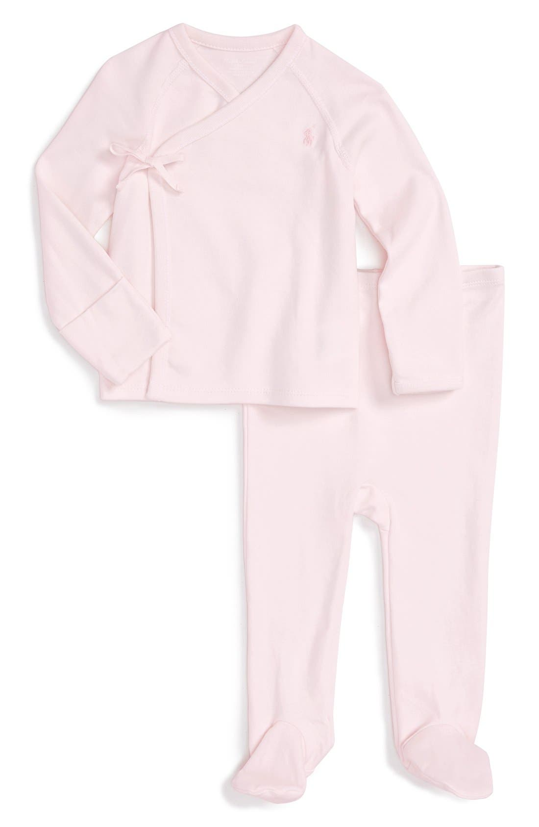 Ralph Lauren Kimono Top & Footed Pants Set (Baby Girls)