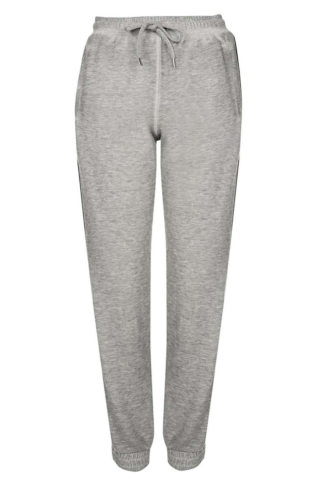 Alternate Image 4  - Topshop Side Stripe Burnout Jogger Pants