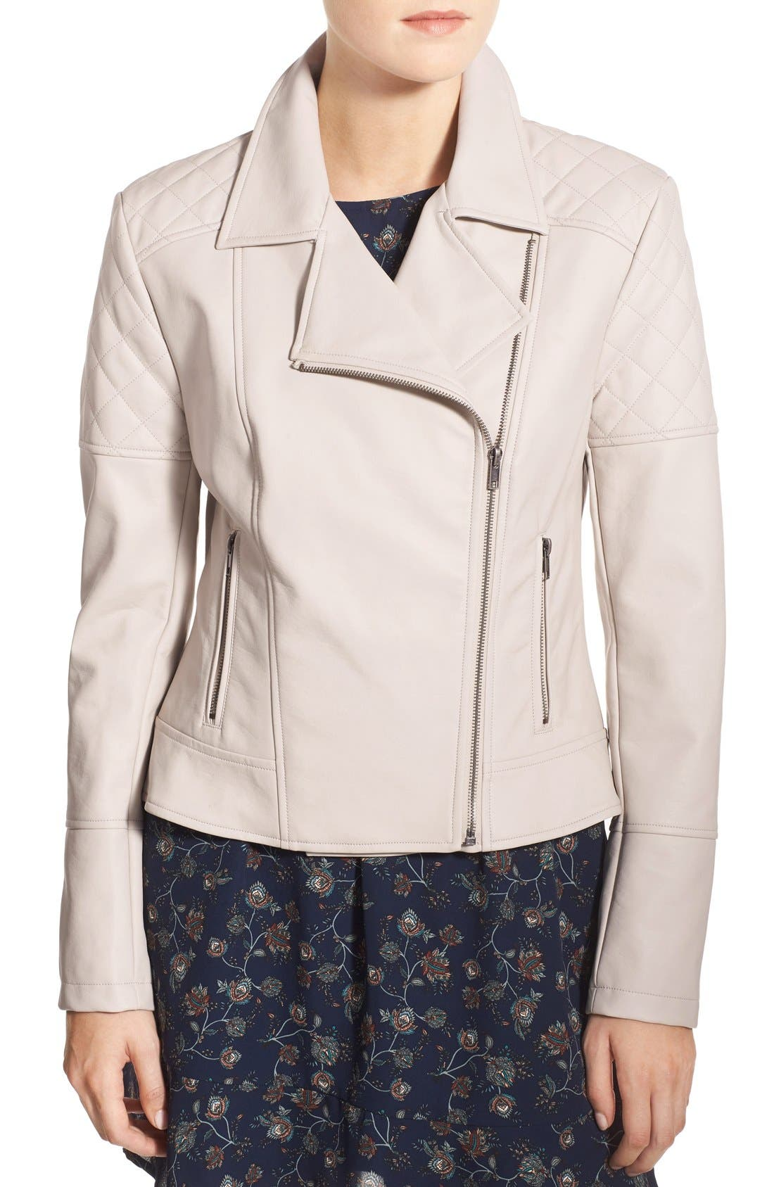 Alternate Image 5  - cupcakes and cashmere 'Breck' Faux Leather Moto Jacket
