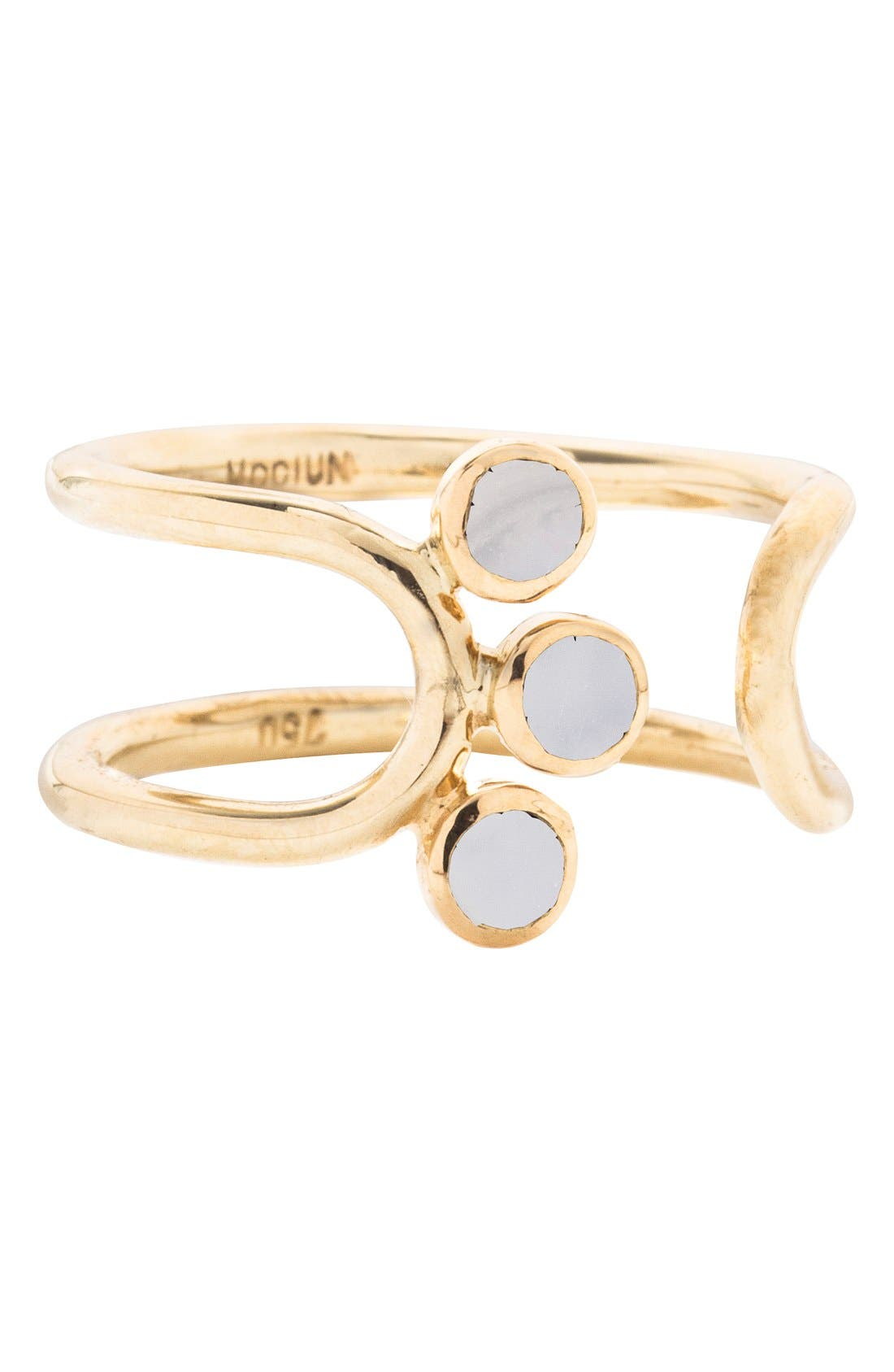 MOCIUN 'Triplet' Moonstone Open Ring