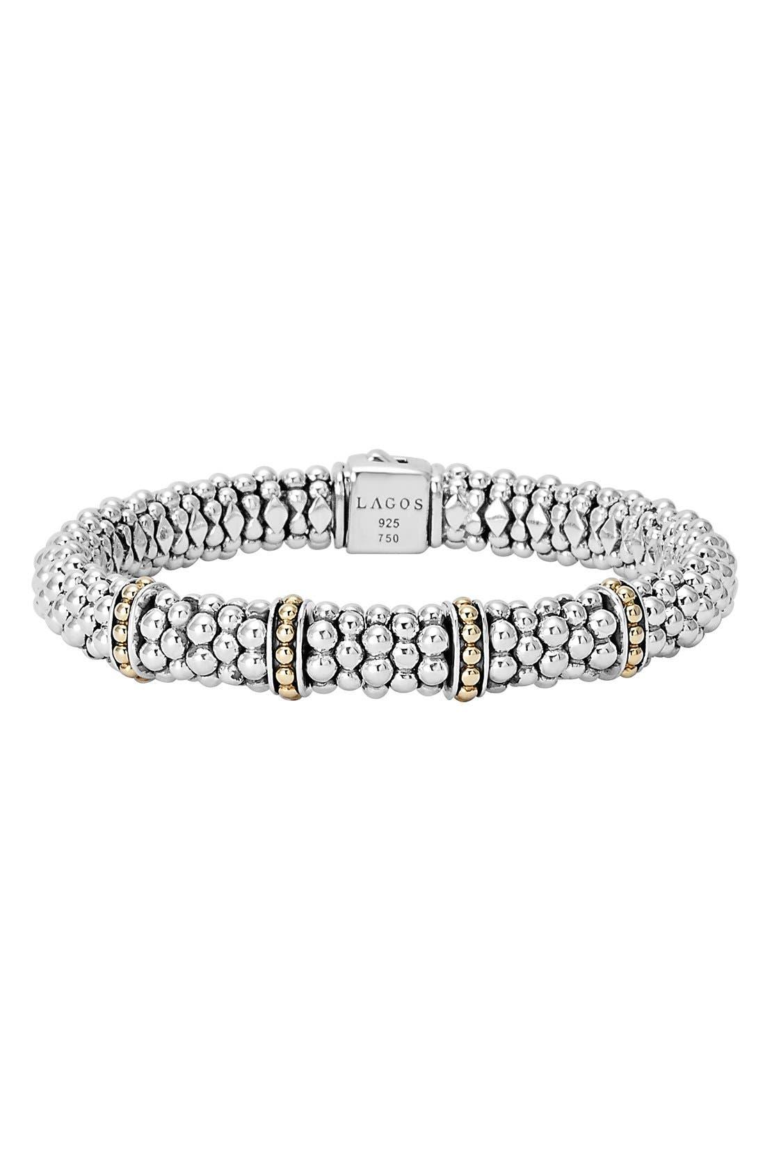 LAGOS 'Enso' Two-Tone Rope Caviar™ Bracelet