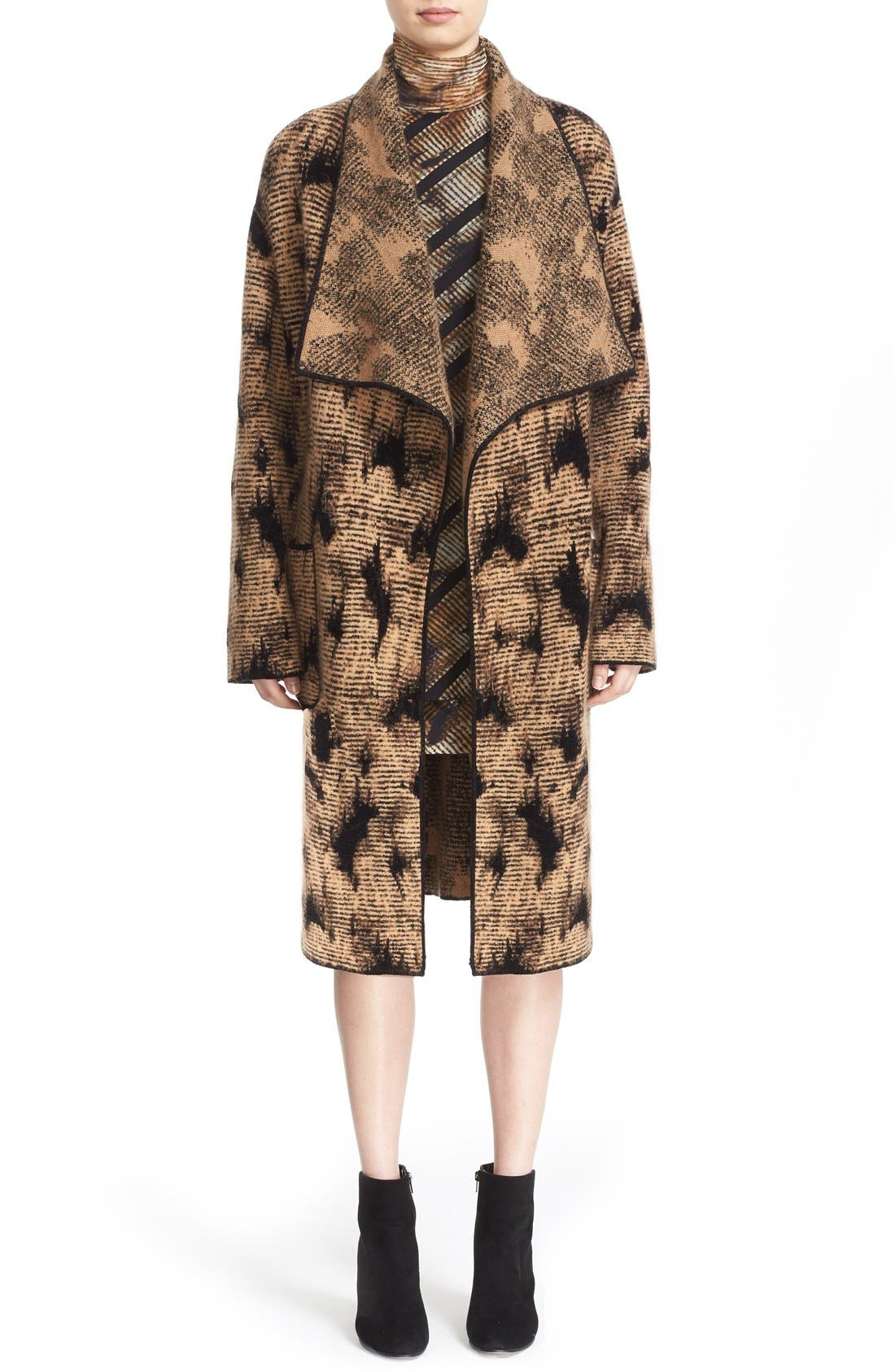 Alternate Image 7  - Fuzzi Jacquard Knit Coat