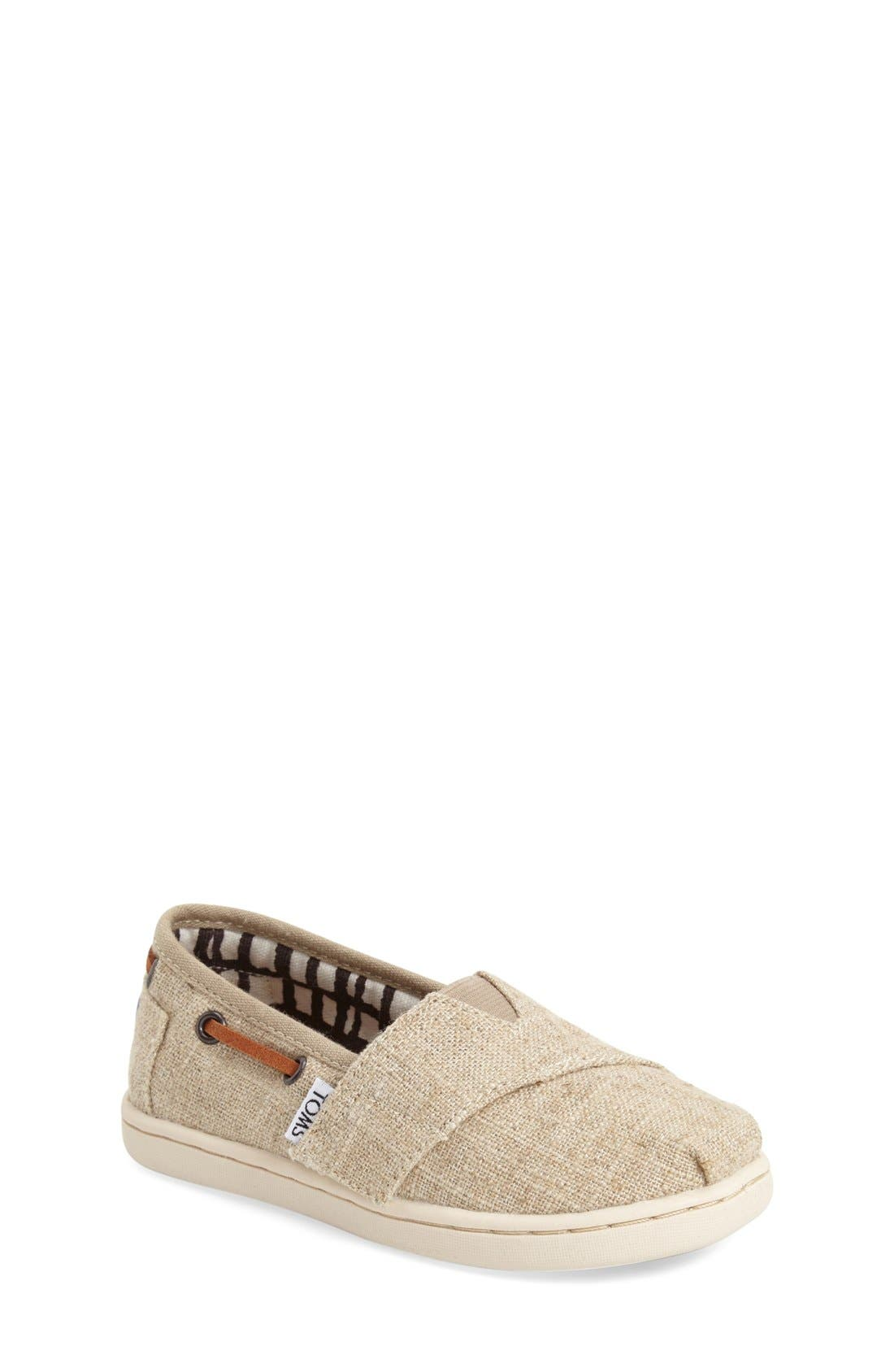 TOMS Bimini Burlap Slip-On (Baby, Walker & Toddler)