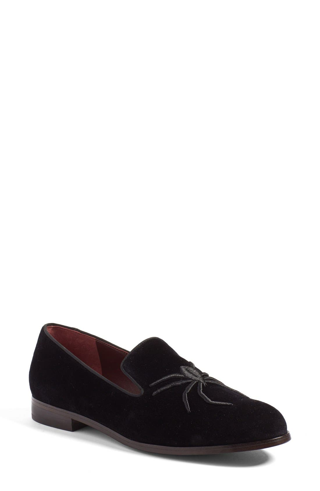 Main Image - MARC JACOBS 'Zoe' Embroidered Spider Loafer (Women)