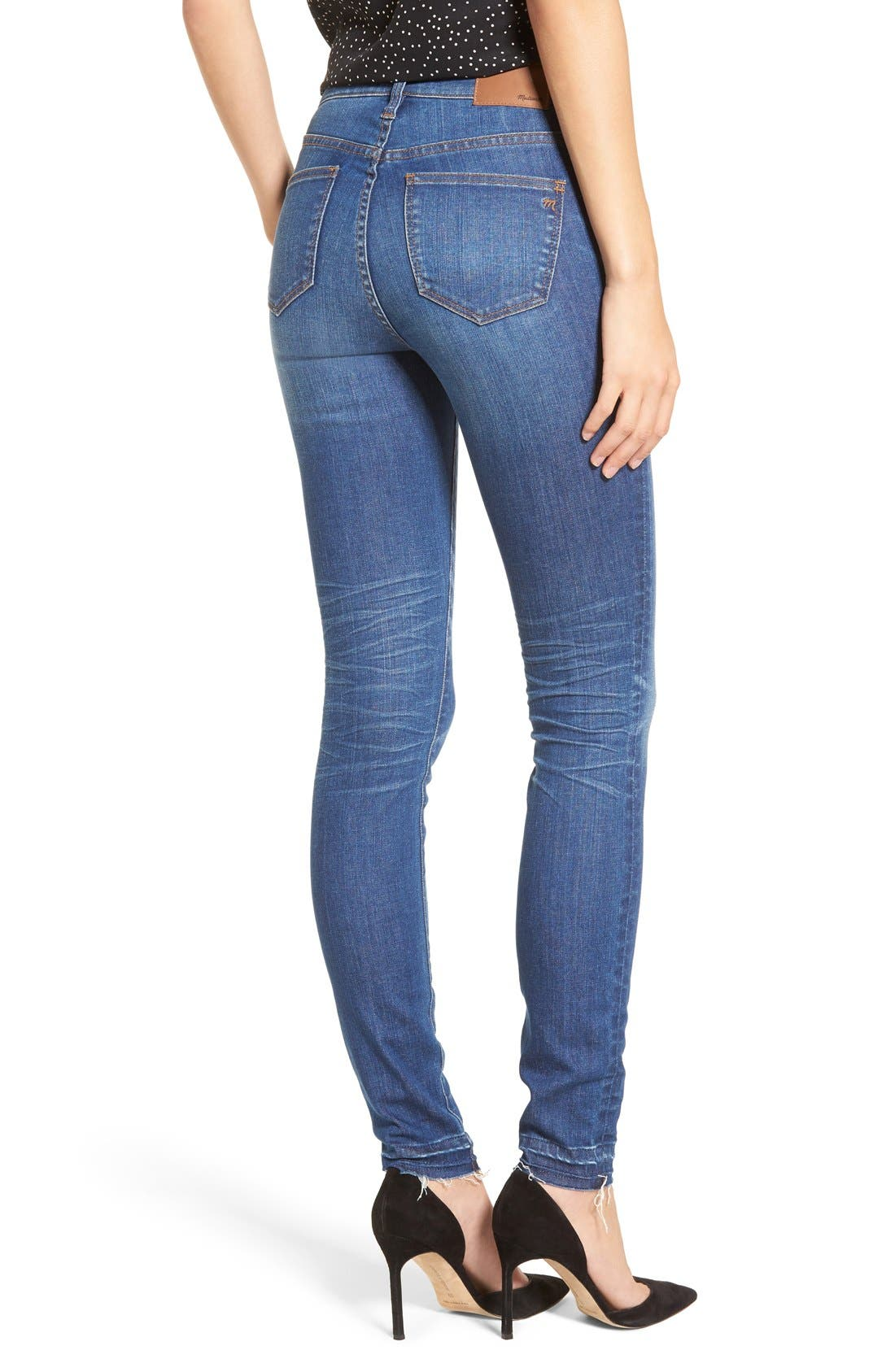 Alternate Image 2  - Madewell High Rise Skinny Jeans (Hammond Wash)