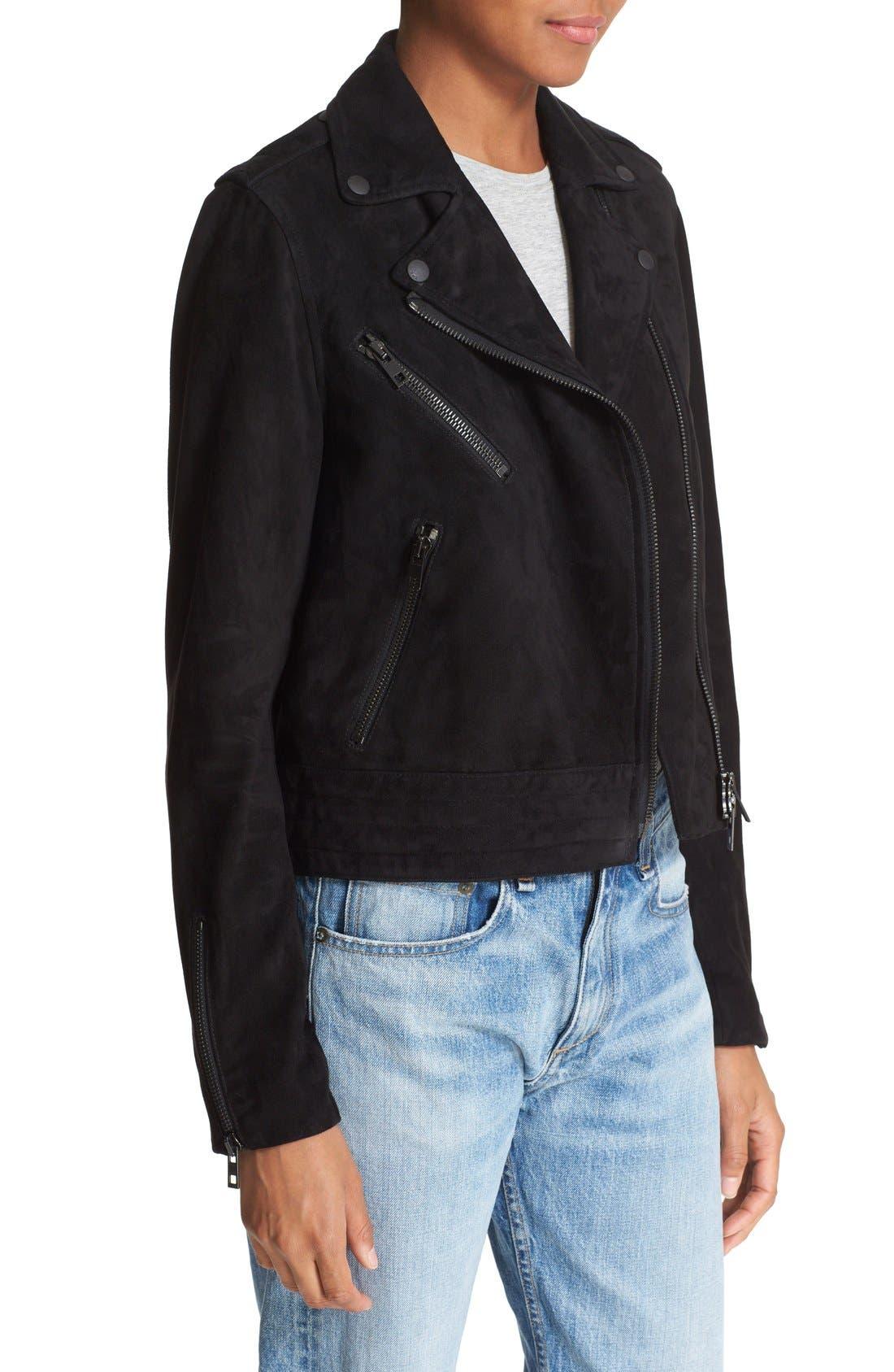 Alternate Image 4  - rag & bone/JEAN 'Mercer' Suede Jacket
