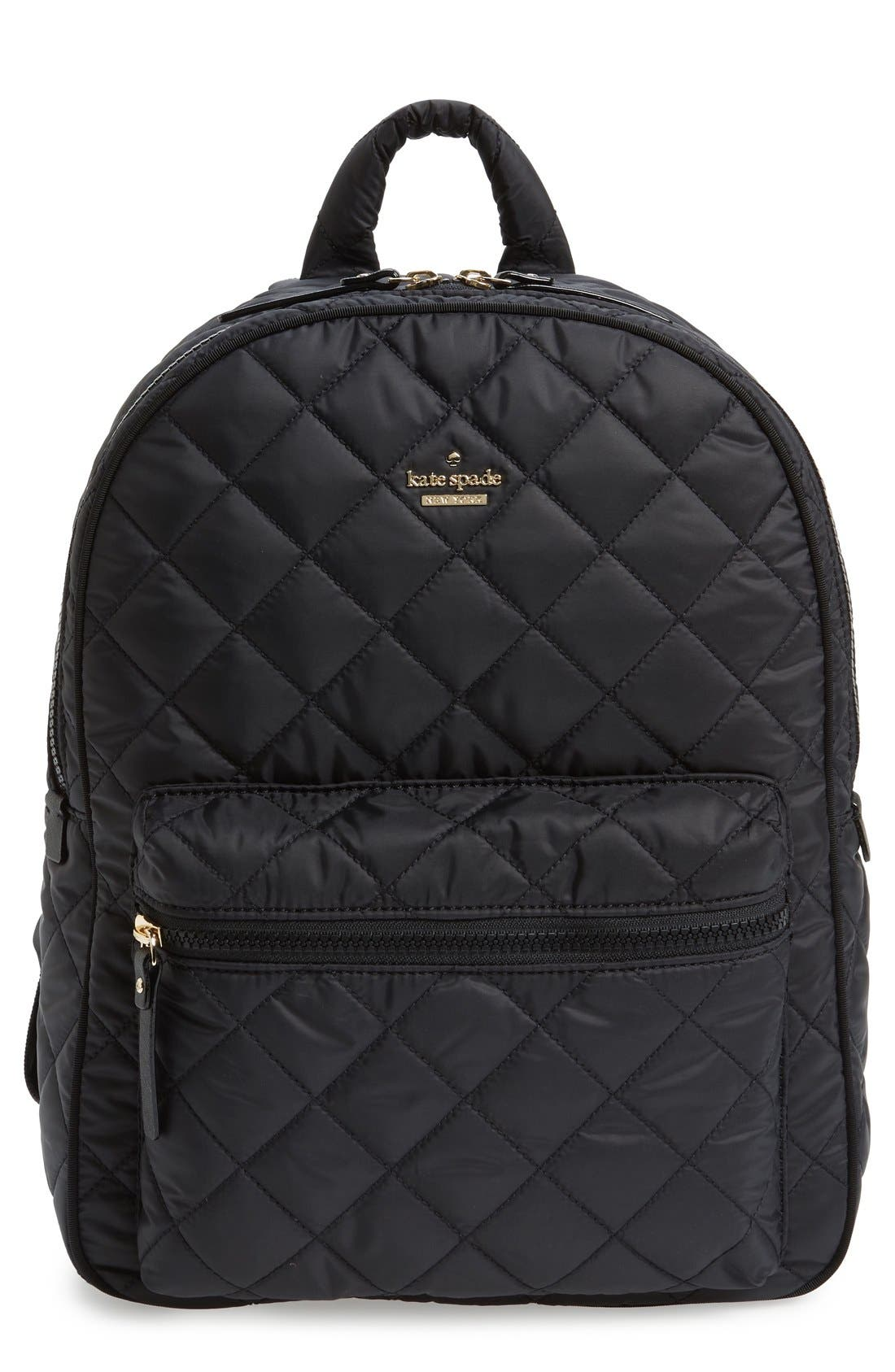 Main Image - kate spade new york 'ridge street siggy' quilted backpack