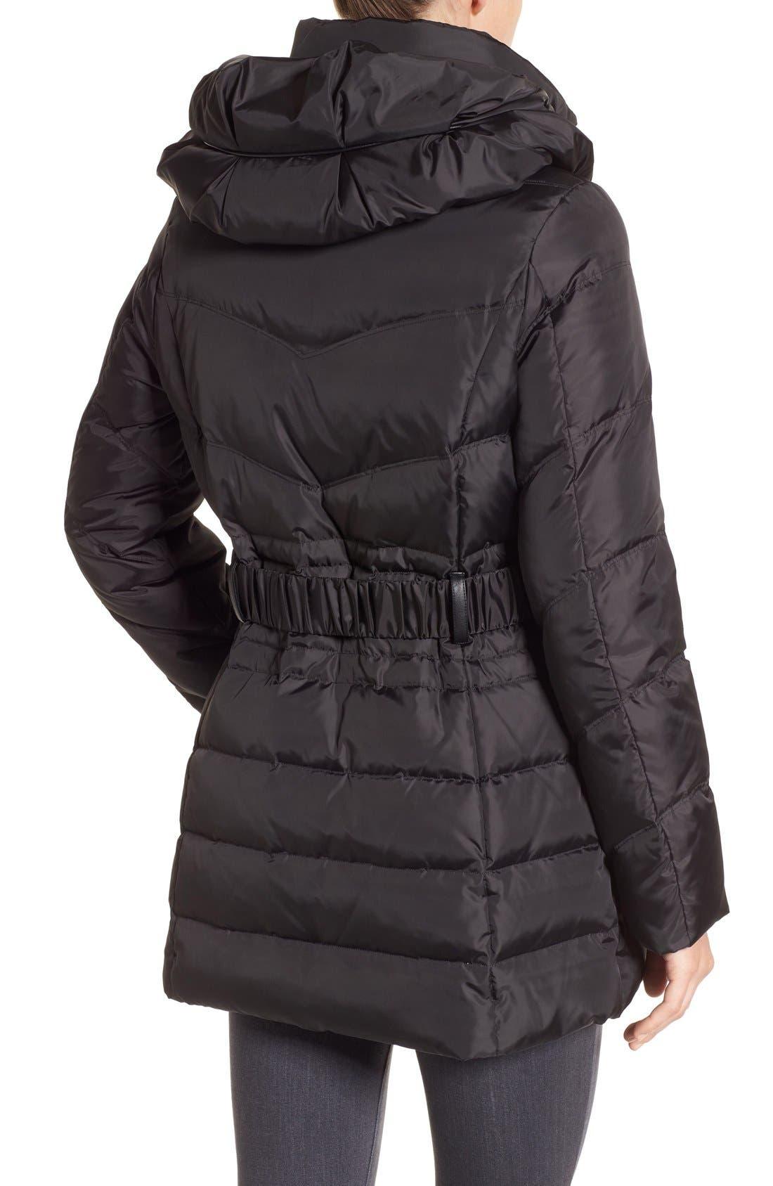 Alternate Image 2  - Via Spiga Snap Detail Pillow Collar Puffer Coat