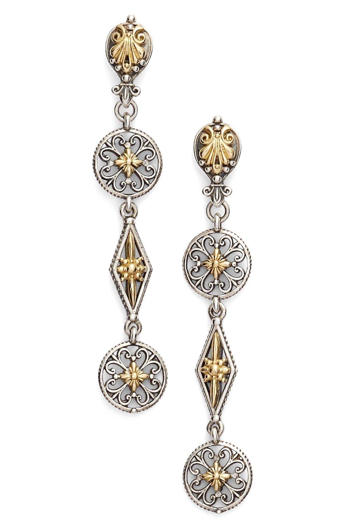 Konstantino 'Penelope' Linear Drop Earrings