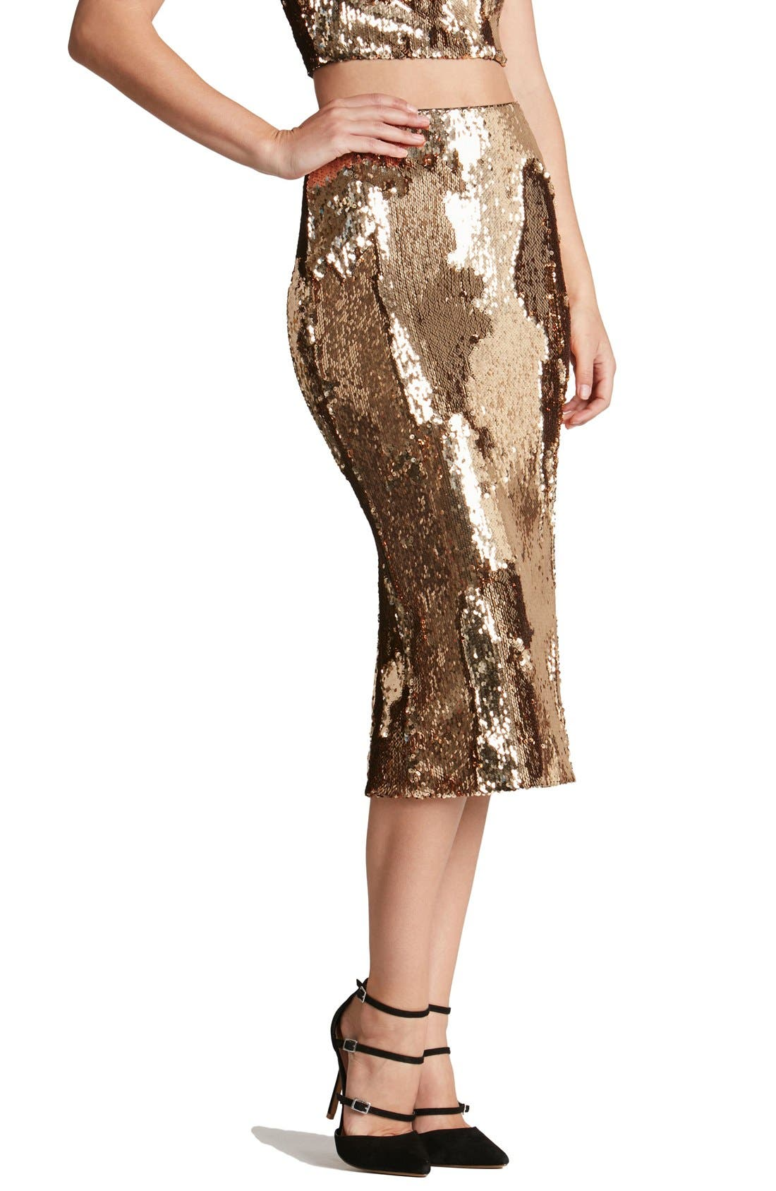 Alternate Image 2  - Dress the Population 'Sasha' Sequin Midi Skirt