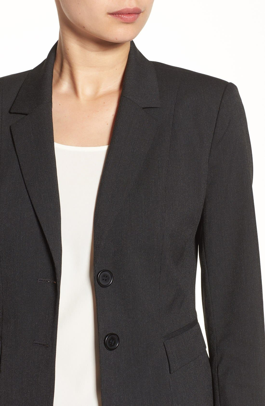 Alternate Image 4  - Halogen® Mini Stripe Suit Jacket (Regular & Petite)