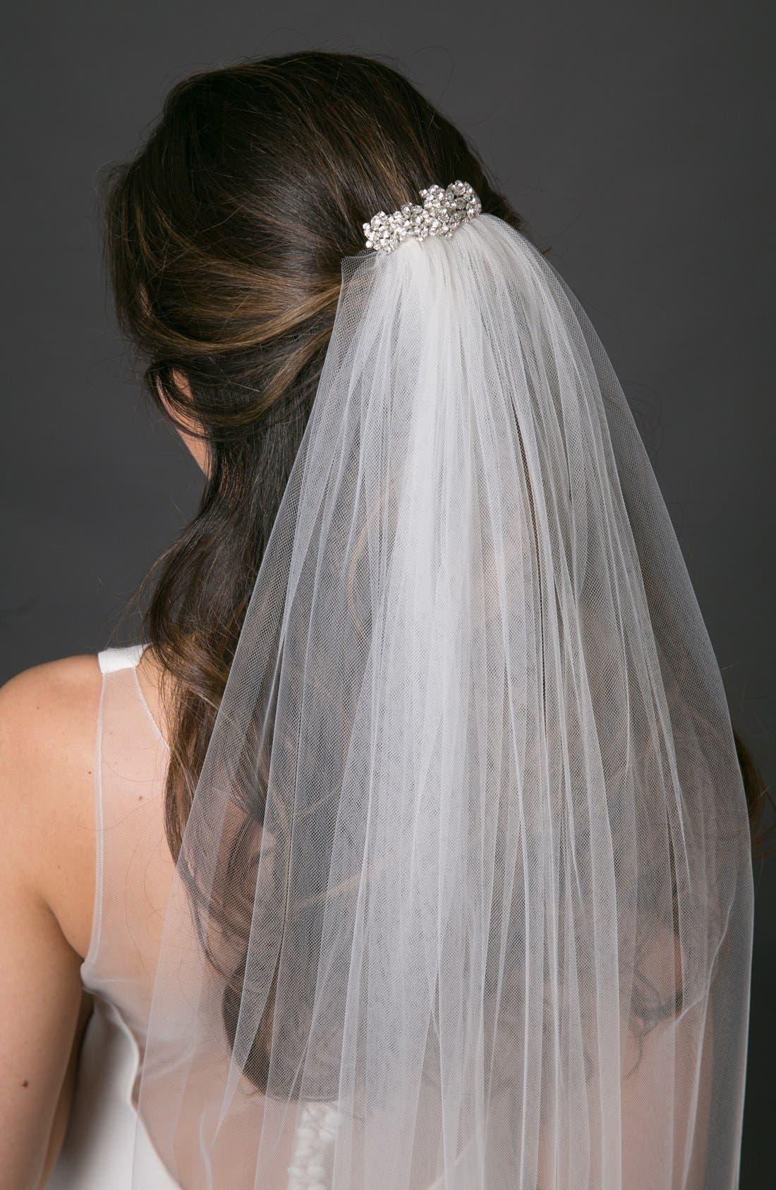 Alternate Image 2  - Toni Federici 'Sugar Pie' Embellished Hair Comb with Waltz Length Veil