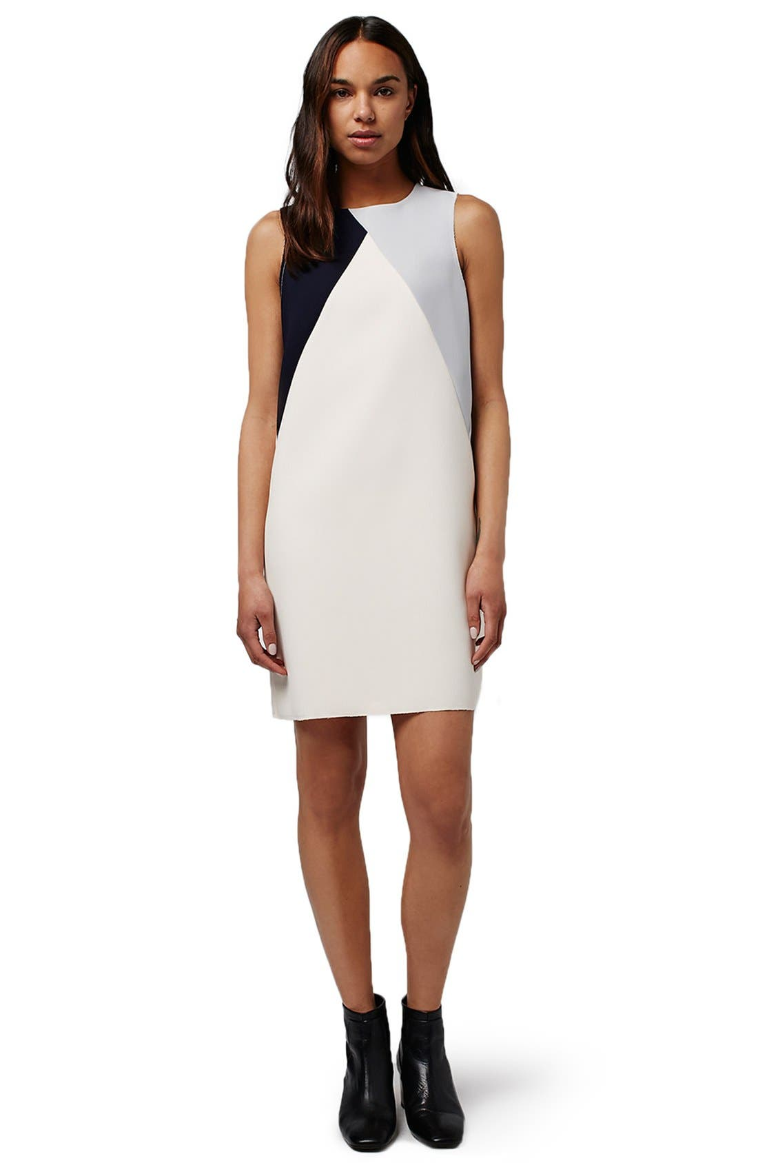 Alternate Image 2  - Topshop Colorblock Shift Dress