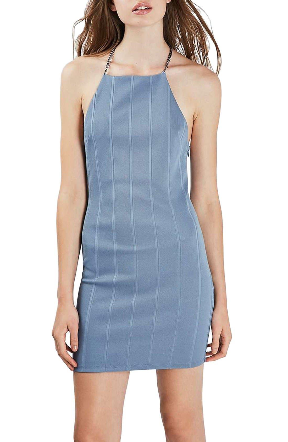Alternate Image 3  - Topshop Chain Strap Bandage Body-Con Dress